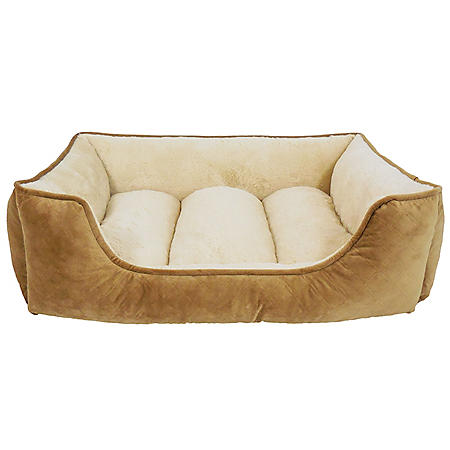 """Canine Creations Memory Foam Lounger Pet Bed, 33"""" x 25"""" (Choose Your Color)"""