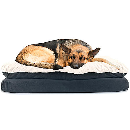 Canine Creations Pillow Topper Rectangle Pet Bed (Choose Your Size and Color)