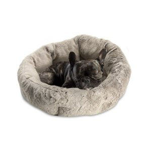 """Sleepy Pet Quilted Slumber Oval Round Cuddler, 22"""" x 22"""" (Choose Your Color)"""