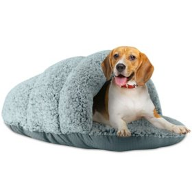 Sleepy Pet Slipper Oval Round Cuddler Pet Bed (Choose Your Size and Color)