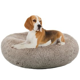 "Paws & Claws Donut Round Pet Bed, 30"" x 30"" (Choose Your Color)"