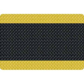 Diamond Foot Anti-fatigue Mat, Black/Yellow (2' x 3')