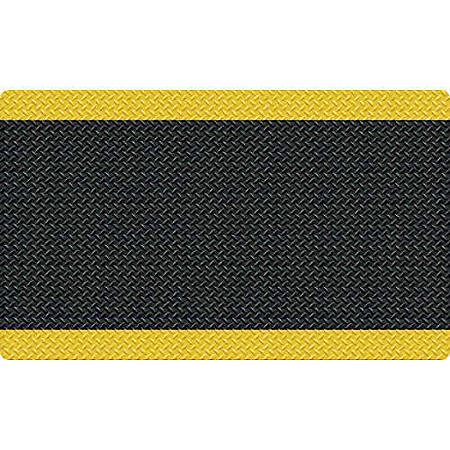 Diamond Foot Anti-fatigue Mat, Black/Yellow (3' x 5')