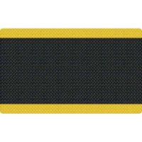 Diamond Foot Anti-fatigue Mat, Black/Yellow (3' x 5')