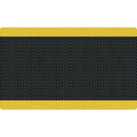 Diamond Foot™ Anti-fatigue Mat, Black/Yellow (3' x 5')