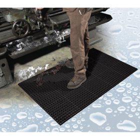 "TruTread™ Anti-fatigue Drainage Mat, Black (3"" x 5"" x .75"" Thick)"