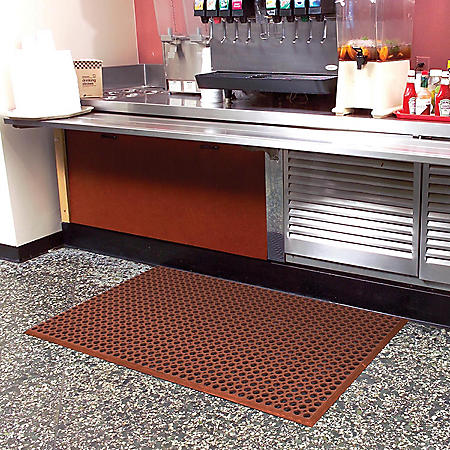 """Grease-Resistant WorkStep Mat, Red (36"""" x 60"""" x .5"""" Thick)"""