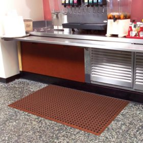 "Grease-Resistant WorkStep Mat, Red (36"" x 60"" x .5"" Thick)"