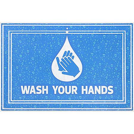 Wash Your Hands Entrance Mat, 2' x 3'