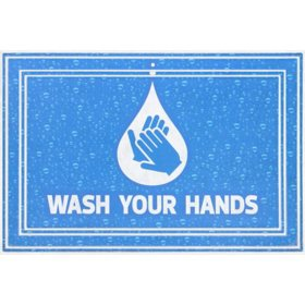 Wash Your Hands Entrance Mat, 2' x 3'