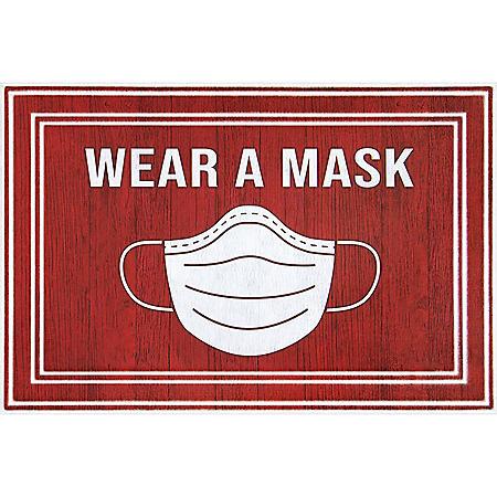 Wear A Mask Entrance Mat, 2' x 3'