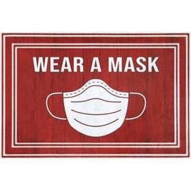 Wear A Mask Entrance Mat, 2' x 3'
