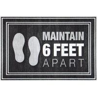 Maintain 6' Apart Entrance Mat, 2' x 3'