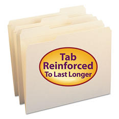 Smead 1/3 Cut Assorted Position Reinforced Top Tab File Folders, Manila (Letter, 100ct.)