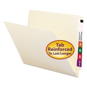 Smead Two-Ply End Tab Shelf Folders, Manila (Letter, 100ct.)