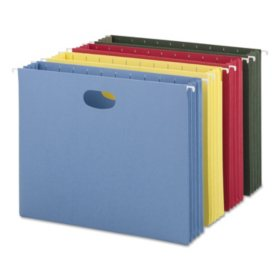 "Smead 3"" Capacity Hanging File Pockets with Sides, Assorted Colors (Letter, 4ct.)"