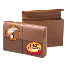 """Smead 3 1/2"""" Expansion Wallet with Tyvek, Cord Closure, Legal, Redrope"""