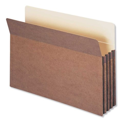 """Smead 3 1/2"""" Accordion Expansion File Pocket, Straight Tab, Legal, Redrope,  25ct."""