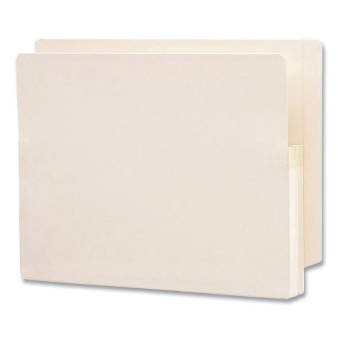 "Smead 1 3/4"" Expansion End Tab File Pocket, Straight Tab, Letter, Manila, 25ct."
