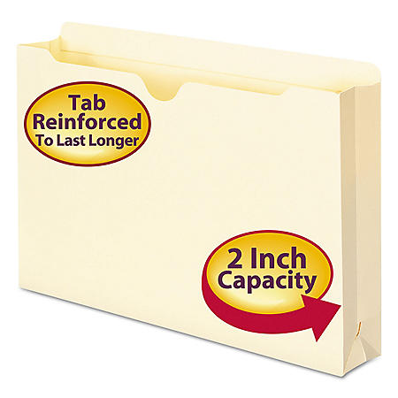 """Smead 2"""" Expansion File Jackets, Manila (Legal, 50ct.)"""