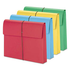 """Smead 2"""" Expansion Wallet with Cord Closure, Letter, Assored Colors, 50ct."""