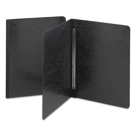 """Smead 3"""" Capacity Side Opening PressGuard Report Cover, Prong Fastener, Letter, Black"""