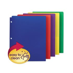 """Smead Campus.org Poly Snap-In Two-Pocket Folder,  Assorted Colors (11"""" x 8 1/2"""", 10 pk.)"""