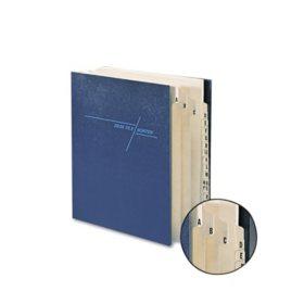 Smead 21 Pocket A-Z Expanding Indexed Sorter, Pressboard, Letter, Navy Blue