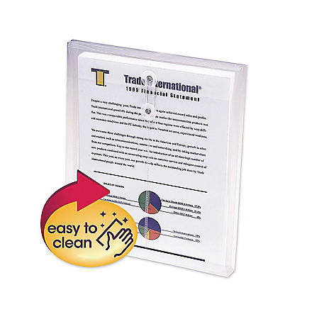 """Smead 1 1/4"""" Top Load String & Button Booklet Envelope, Poly, Letter, Clear, 5ct."""