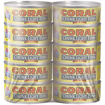 Coral Chunk Light Tuna in Oil (5 oz., 10 pk.)