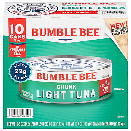 Bumble Bee Chunk Light Tuna in Oil (5 oz., 10 ct.)