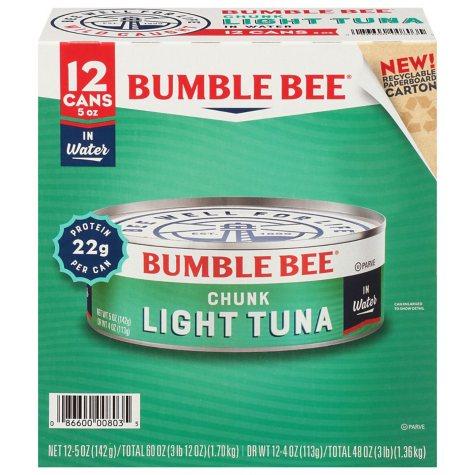 Bumble Bee Chunk Light Tuna in Water (5 oz. ea., 12 cans)