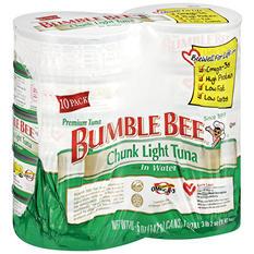 Bumble Bee Chunk Light Tuna in Water (5 oz. can, 10 ct.)