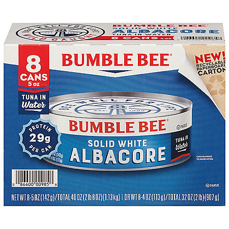 Bumble Bee Solid White Albacore in Water (5 oz., 8 pk.)