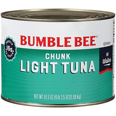 Bumble Bee Chunk Light Tuna in Water - 66.5 oz.