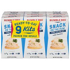 Bumble Bee Tuna Salad Snack Kit (3.5 oz. kit, 9 ct.)