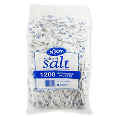 N'JOY® Iodized Salt - 1,200 ct./.5g Packets