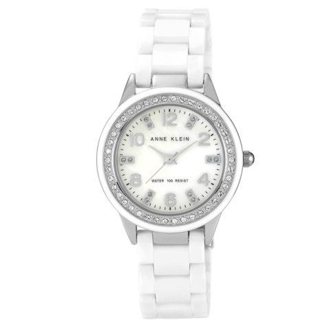 Anne Klein Ladies White Ceramic Watch