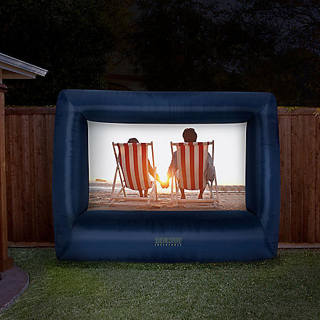 Airblown Inflatable Deluxe Movie Screen with Storage Bag, 12'W x 9'H