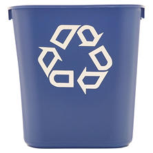 Rubbermaid Commercial Deskside Recycling Container - Blue - 13 5/8 qt.