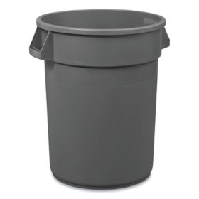 Boardwalk Round Waste Receptacle, LLDPE - Gray (32 gal.)