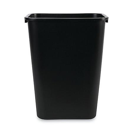 Boardwalk Soft-Sided, Plastic Wastebasket - Black (10.25 gal.)