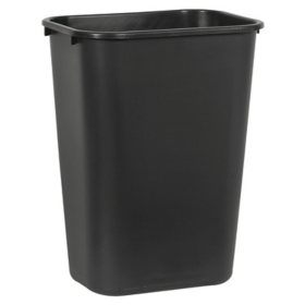 Boardwalk Soft-Sided, Plastic Wastebasket - Black (10.25 gal.)