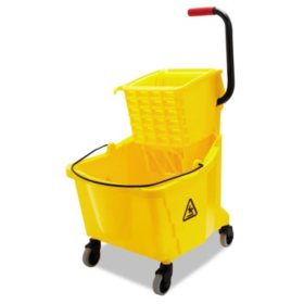 Boardwalk Pro-Pac Side-Squeeze Wringer/Bucket Combo, Yellow (35qt.)