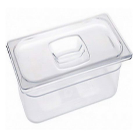 Rubbermaid 1/6 size Cold Food Pan with Lid - 2pk