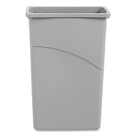Boardwalk Slim Jim Waste Container, Plastic - Gray (23 gal.)