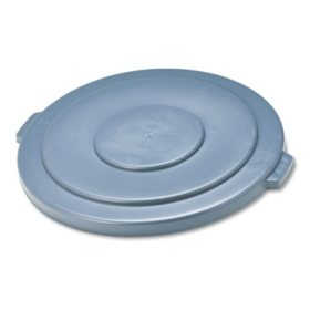 """Rubbermaid Commercial - Round Brute Lid, 26 3/4"""" dia -  Gray"""