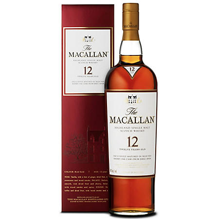 The Macallan 12 Year Old Scotch Whisky (750 ml)