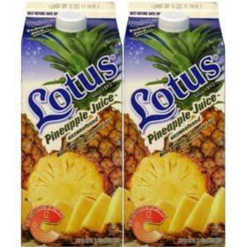 Lotus Pineapple Juice (64 fl. oz. carton, 2 pk.)