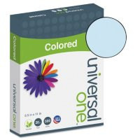 """Universal Colored Paper, 20lb, 8-1/2"""" x 11"""", 500 Sheets/Ream (Various Colors)"""